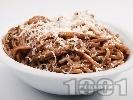 Рецепта Пияни спагети със спанак, червено вино и сирене пармезан